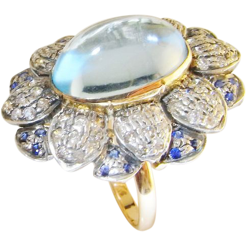 engagement opal ring cabochon gold rose listing il rings cushion