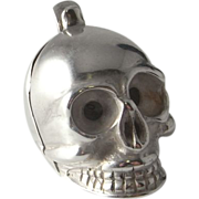 1600s Silver Skull Pomander Pendant Georgian Jewelry Memento Mori Jewelry Poison Locket 17th Century Baroque Jewelry Antique Locket Pendant