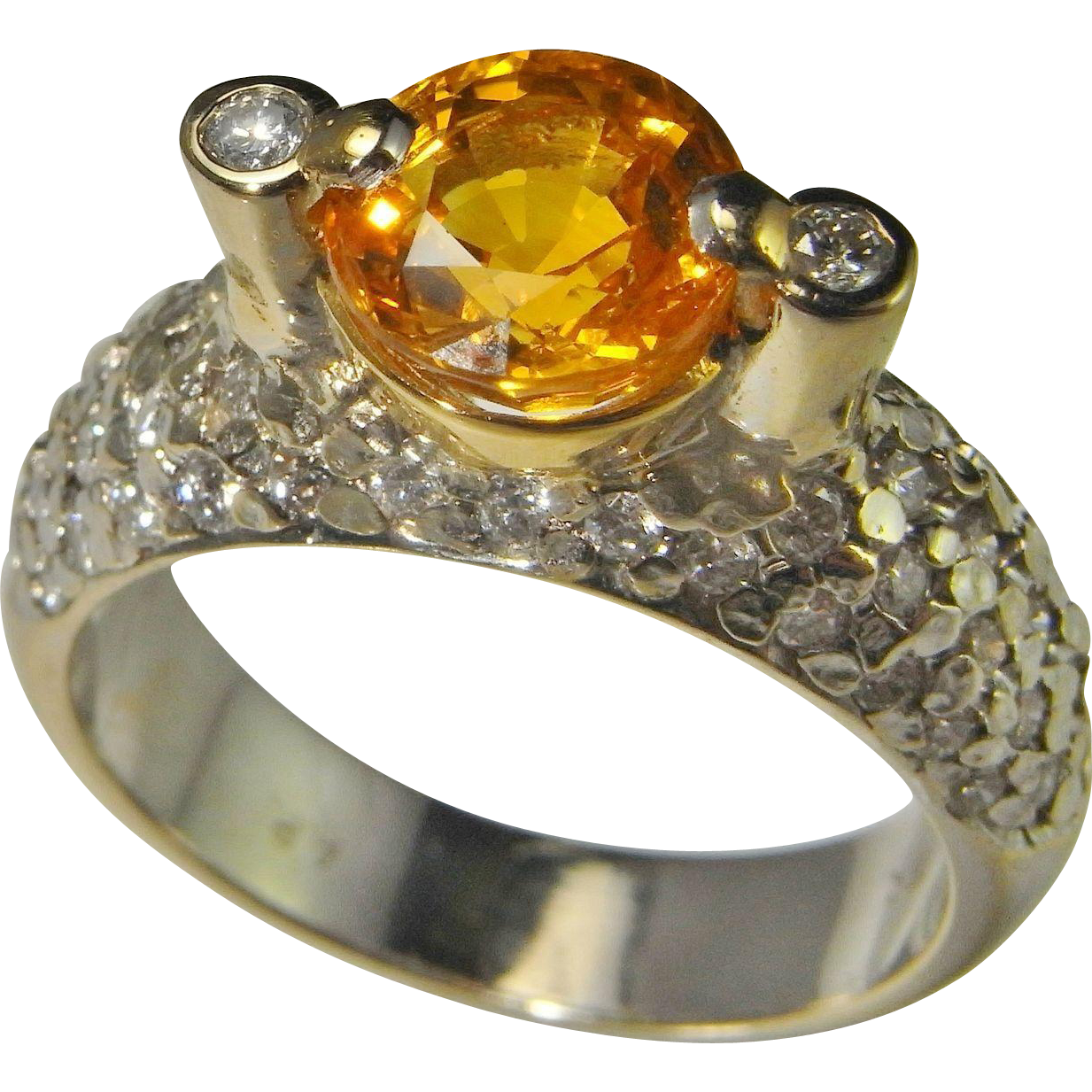 yellow diamond engagement gold at fancy ring z platinum light id halo j canary jewelry rings