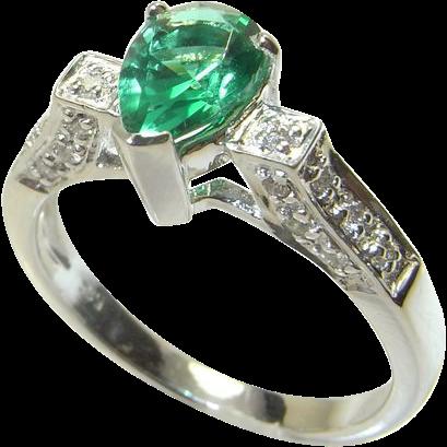 tsavorite ring 14k color engagement ring unique