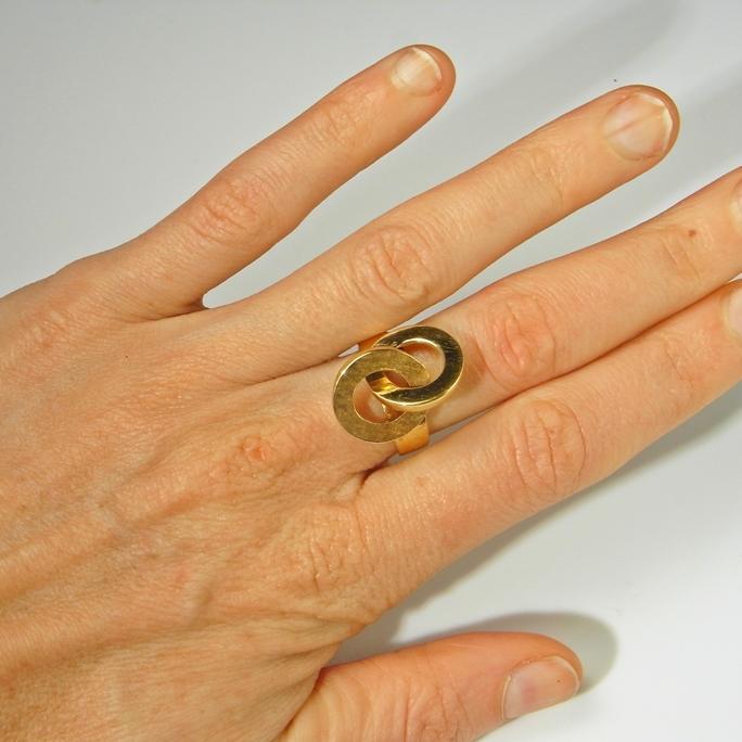 18K Gold Engagement Ring Promise Ring Wedding Ring True Lovers