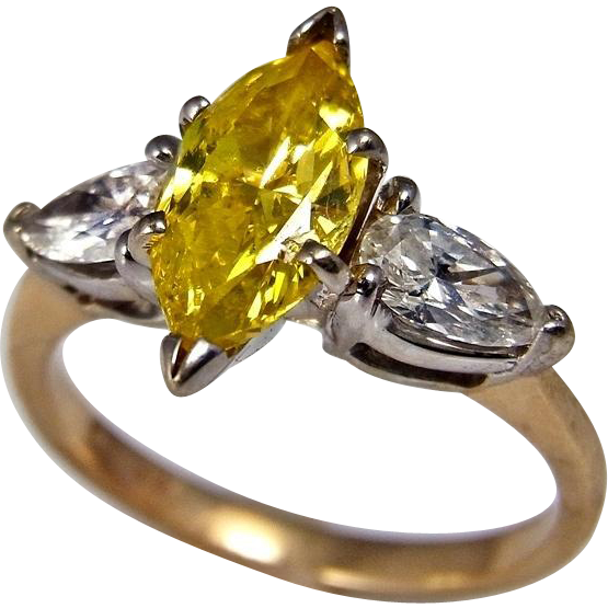 Canary Diamond Engagement Ring Canary Diamond Ring Yellow