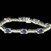 Ceylon Sapphire Bracelet Sapphire Diamond Bracelet Wedding Jewelry Bridal Jewelry Natural Sapphire Blue Sapphire High End Jewelry Luxury 14K Kate Middleton Duchess of Cambridge Duchess of Windsor Style Jewelry Heirloom