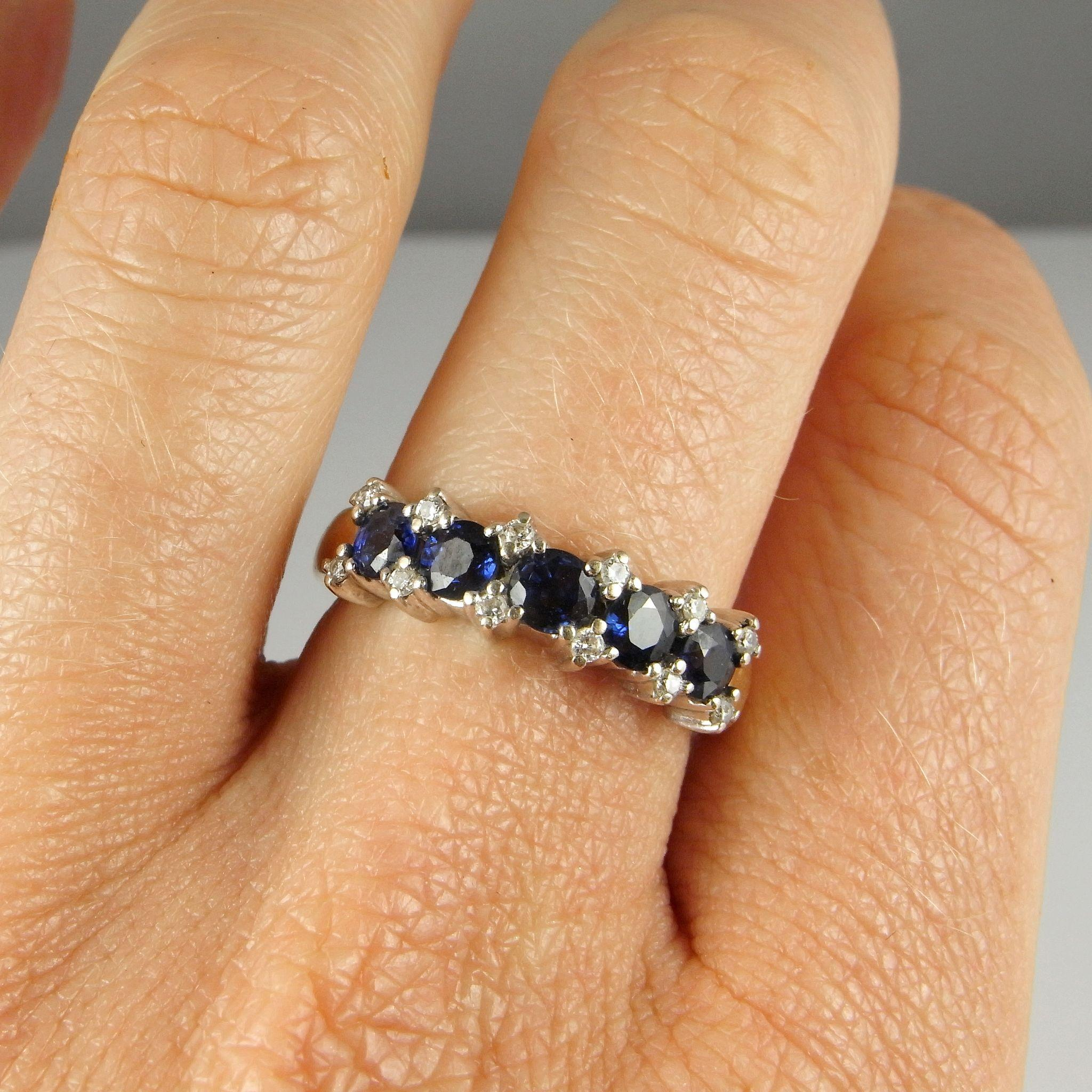 diamond beautiful sapphire engagement band ring wedding bands