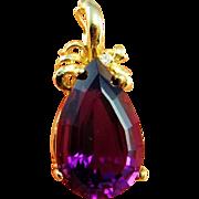 Amethyst Pendant Amethyst Necklace Gold Amethyst Jewelry 1980s Jewelry 80s 14K Gold Pendant Statement Pendant Jewelry Purple Diamond Pendant Pearl Enhancer Yellow Gold Statement Royal Purple Luxury Jewelry