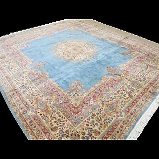 "Hand Woven Persian Kerman Rug 11' 5"" x 12' 10"""