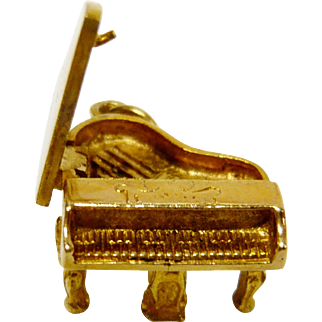 Piano 14K Yellow Gold Charm