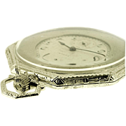 Elgin Art Deco Octagonal Pocket Watch