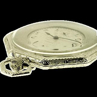 Elgin Art Deco Octagonal Pocket Watch