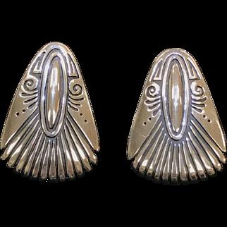 Sterling Silver Shenan Begay Clip On Earrings