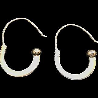 Oval Shaped Sterling Silver Hoop Earrings