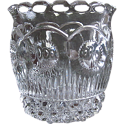 "EAPG U.S. Glass Co. 1902  ""Manhattan"" NY State Toothpick Holder"