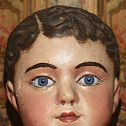 A Paper Mache  BRU MANNEQUIN HEAD  from The Woodbury Strong Museum.