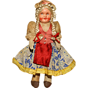 MATRIX STOCKING STUFFER!!  A Colorful All Original Hungarian Doll  signed Hungary