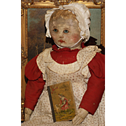 "29"" Rare Sized Oil Painted Columbian Doll by Emma Adams"