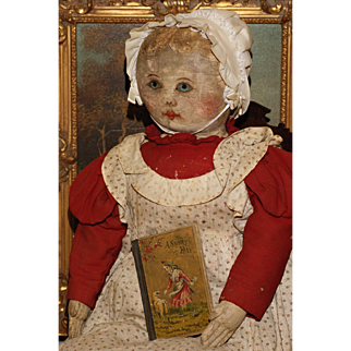 """29"""" Rare Sized Oil Painted Columbian Doll by Emma Adams"""