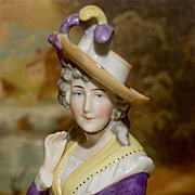 "Beautiful 4"" Half Doll Portrait of Mrs. Sarah Siddons"