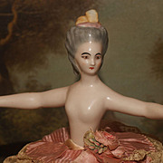 "5"" Rare French Half Doll with 8.5"" Outstretched Arms  All Mint"