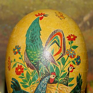 Large Pennsylvania Folk Style German Easter Egg