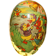 A Rare East German Paper Mache Easter Egg Candy Container
