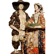 """Shell People -  Les Poupée du Paludier or Shell Dolls 7"""" tall"""