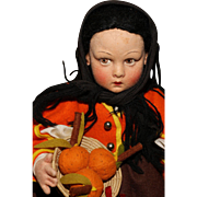 "Seasonal Lenci with Pumpkins - 14"" All Original 'Lucia' in Box with Tags"