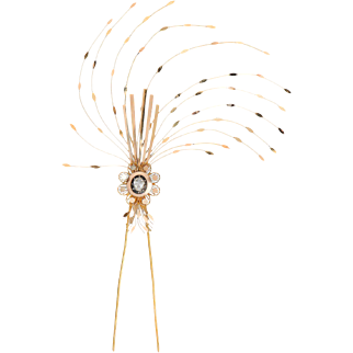 Grand Plumes of a Georgian Aigrette Hair Ornament