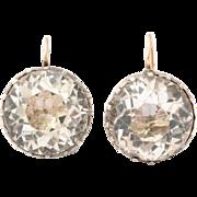 Multi-faceted Georgian Round Paste Drop Earrings