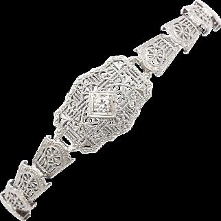 An Art Deco Diamond Filligre  Bracelet