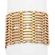 Extra Wide Edwardian Gold Gate Bracelet