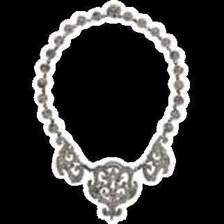 Georgian Cut Steel Necklace c. 1820