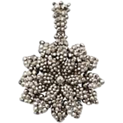 Georgian Cut Steel Flower Pendant c. 1830