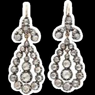 Sumptuous Georgian Diamond Earrings