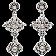 Romantic Edwardian Paste Chandelier Earrings