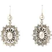 Bright Light Victorian Sterling Earrings c. 1870