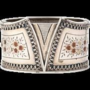 Victorian Gold Trimmed Silver Corset Bracelet