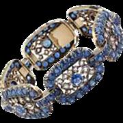 Impressive Victorian Ceylon Sapphire and Diamond Bracelet