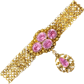 Gossamer Georgian Pink Topaz Bracelet