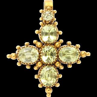 Georgian Chrysolite Maltese Cross