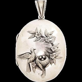 Sterling Silver Victorian Locket Celebrates Parental Devotion