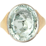 Brilliant Georgian Aquamarine Ring