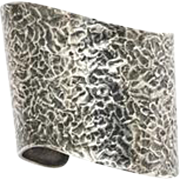 Ed Wiener Hand Created Silver Cuff; The Only One