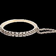 Sterling Silver Rose CutPaste Bracelet Victorian