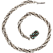 A Significant Georgian Sterling Rope Chain