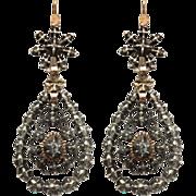 Diamond Accented Georgian Chandelier Earrings