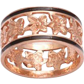 14 kt Band of Ivy Ring c. 1860 American