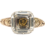 Stuart Crystal Ring 15 kt Georgian Era
