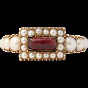Natural Pearl and Garnet Ring c. 1860