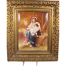 Superb Antique Signed Painting on Porcelain