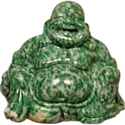 Antique Carved Hardstone Happy Buddha